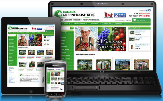 Canada Greenhouse Kits Ecommerce Website Design
