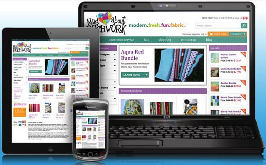 Mad About Patchwork Ecommerce Website