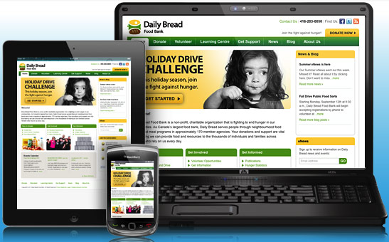 Toronto Daily Bread Foodbank Website Design